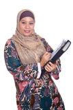 Mature Muslim woman with folder Stock Images
