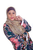 Mature Muslim woman in scarf Royalty Free Stock Photos