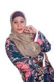 Mature Muslim woman in scarf. Beautiful mature Muslim woman in scarf Royalty Free Stock Photos