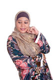 Mature Muslim woman in scarf. Beautiful mature Muslim woman in scarf Stock Photography