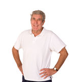 Mature older man stretching during warm up Stock Photography