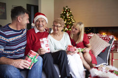 Mature people during Christmas Royalty Free Stock Photo