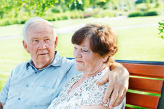 Mature people in park Stock Photo