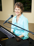 Mature Piano Player Royalty Free Stock Photos
