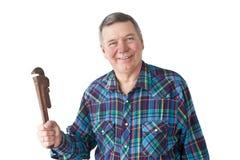 mature plumber smiling Στοκ εικόνες με δικαίωμα ελεύθερης χρήσης