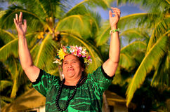 Mature Polynesian Pacific Island Woman Stock Photography
