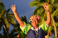 Mature Polynesian Pacific Island Woman Royalty Free Stock Photography