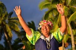 Mature Polynesian Pacific Island Woman Royalty Free Stock Photography