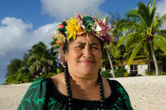 Mature Polynesian Pacific Island Woman Royalty Free Stock Photo
