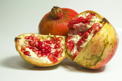 Mature pomegranate Stock Images