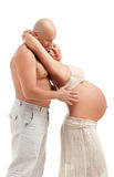 Mature pregnant woman with her husband Royalty Free Stock Photography