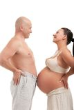 Mature pregnant woman with her husband Stock Photography