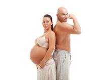 Mature pregnant woman with her husband Stock Images