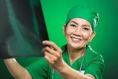 Mature radiologist Royalty Free Stock Photos
