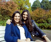 Mature real mother with daughter outside Royalty Free Stock Photos