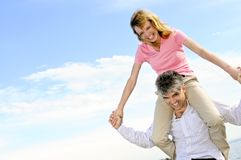 Mature romantic couple Stock Photography