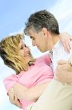 Mature romantic couple Royalty Free Stock Photos