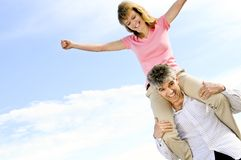 Mature romantic couple Stock Photos