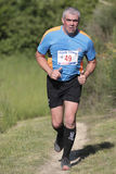 Mature runner. Royalty Free Stock Image