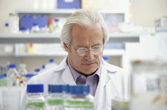 Mature Scientist In Laboratory Stock Photos