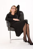 Mature secretary in relax Stock Images