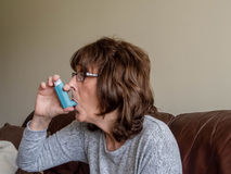 Asthma sufferer Royalty Free Stock Images