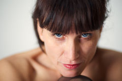 Mature sensuality woman Royalty Free Stock Images