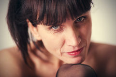 Mature sensuality woman Royalty Free Stock Photo