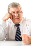 Mature serious solid man Stock Photography