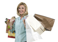 Mature shopper Stock Photo