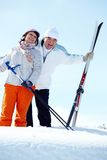 Mature skiers Royalty Free Stock Photos