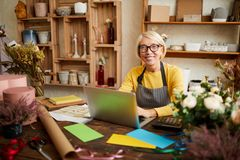 Mature Small Business Owner stock photos