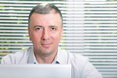 Mature smiling business man Royalty Free Stock Photography