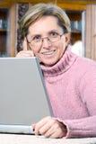 mature smiling woman στοκ φωτογραφίες