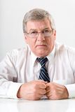 Mature solid business man stock photo