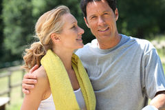 Mature sporty couple Royalty Free Stock Image