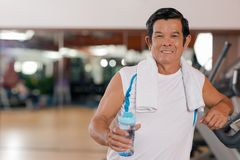 Mature sporty man Royalty Free Stock Images