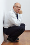 Mature stressed businessman Royalty Free Stock Photo