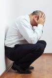 Mature stressed businessman Stock Photo