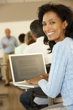 Mature student in class Royalty Free Stock Images