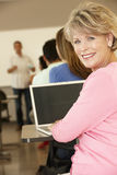 Mature student in class Royalty Free Stock Photo