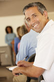 Mature student in class Royalty Free Stock Photos