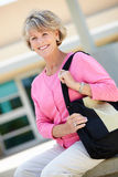 Mature student outdoors Stock Image