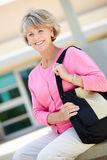 Mature student outdoors Royalty Free Stock Photography