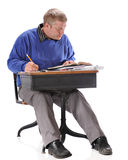 Mature Student at Work royalty free stock photos