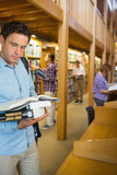 Mature students in the library Stock Images