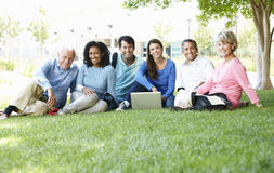 Mature students outdoors Stock Photos