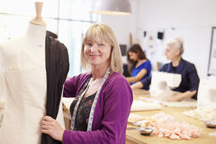 Mature Students Studying Fashion And Design Royalty Free Stock Photography