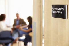 Mature Students Working In College Breakout Area royalty free stock photography