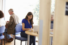 Mature Students Working In College Breakout Area royalty free stock photo